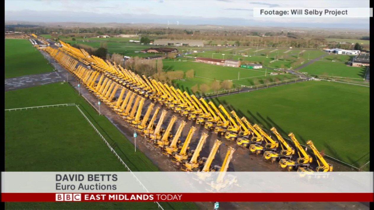 BBC Footage of Cranes Sale